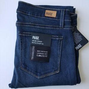 "PAIGE 34""Inseam Skyline Straight Midrise Jeans"